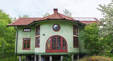 Zelena kuća od slame u Švedskoj